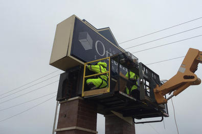 Ottumwa Savings Bank Sign Install