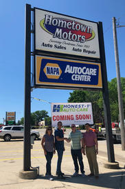 Hometown Motors Sign