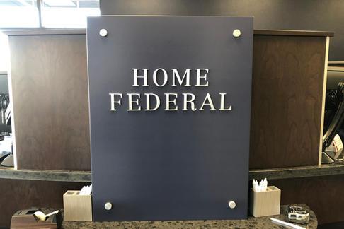 Home Federal Interior Signage
