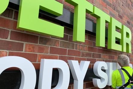Better Body Shop Exterior Sign Install
