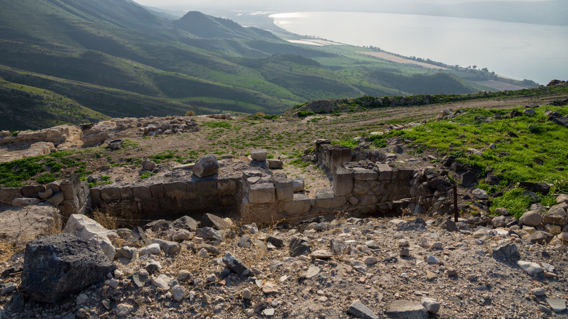Susita (Hippos) Ruins, Sea of Galilee, t