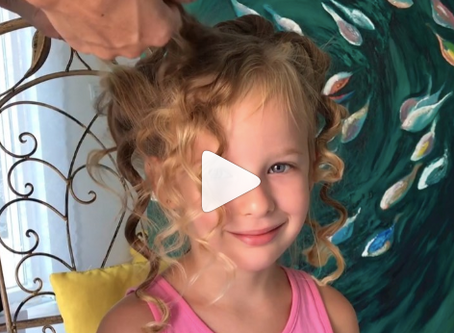 No heat curls for toddler hair
