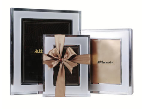 Sleek Silver Photo Frame Box Small with Assorted Dates