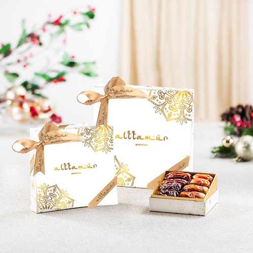 Ivory White Box with Assorted Dates