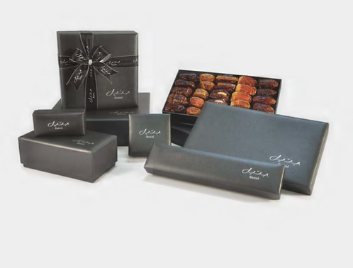 Bateel Onyx Black Box with Assorted Dates