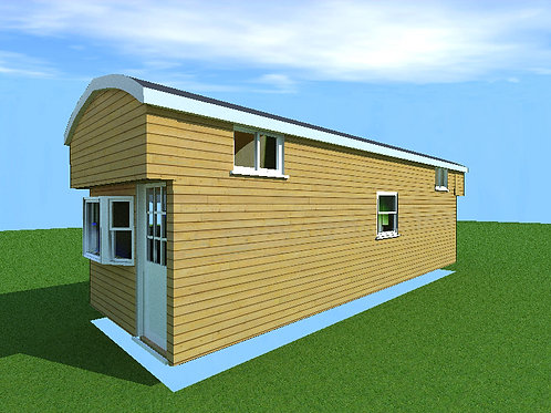 10' x 30' with dual lofts - Cabin Style