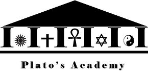Plato's Academy's logo representing various Spiritual & Mystical movements and religions