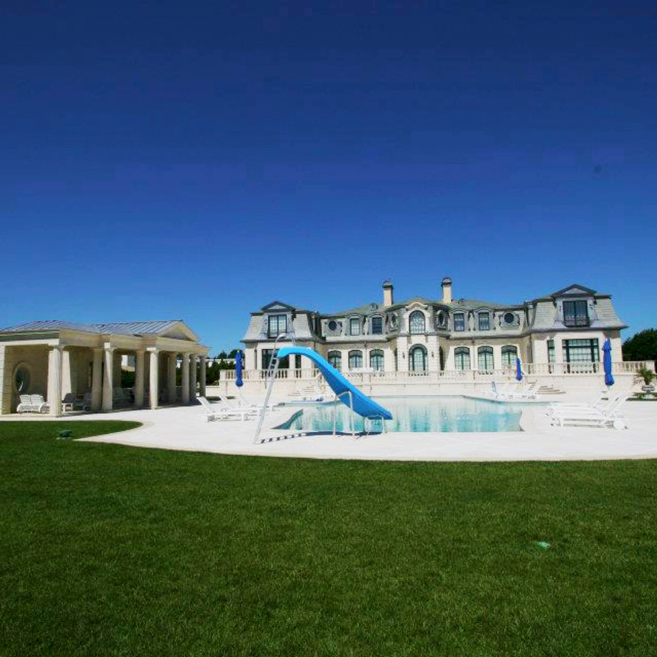 Backyard Compliment to French Villa