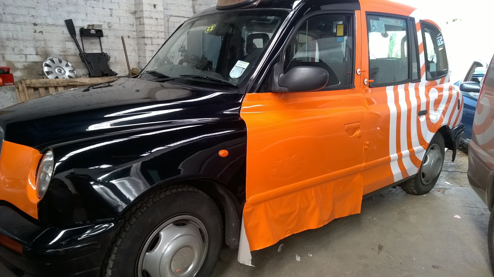 Taxi Wrap mid way through