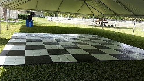 Dance Floor: Black and White (3'x 3' Panels)