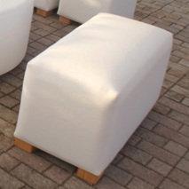 Rectangular Leather Seat