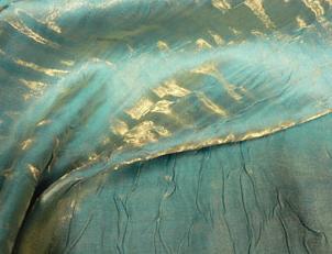 Iridescent Crush - Gold Turquoise