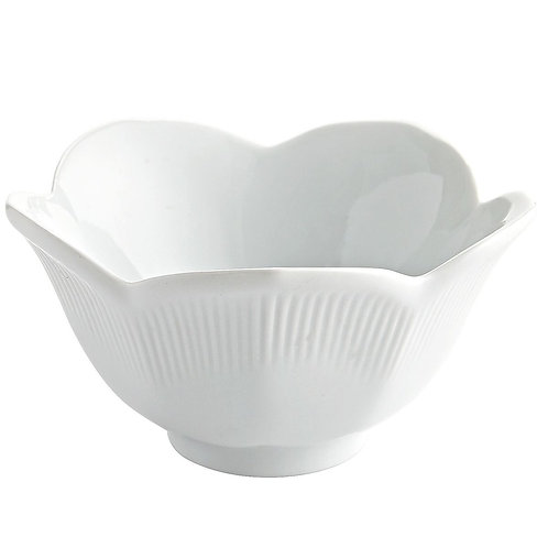 White China Lotus Dip Bowl