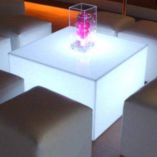 Acryilic Lighted Square Lounge Table