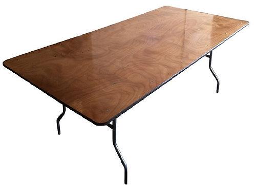 """6' x 48"""" Rectangular - Plywood Top"""