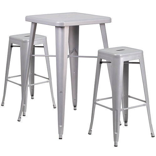 Metal Remington Cocktail Table (without stools)