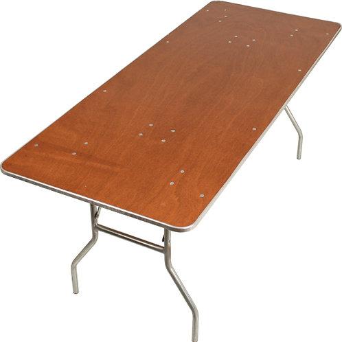 """8' x 30"""" Rectangular - Plywood Top  (Seats 10)"""