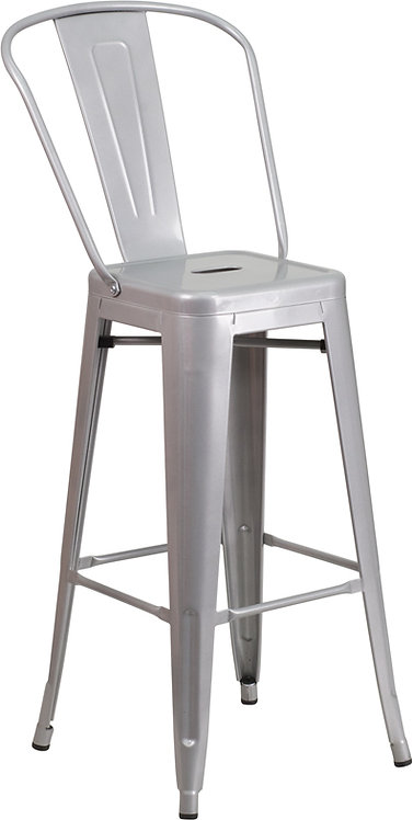Remington Metal Barstool w/ Back