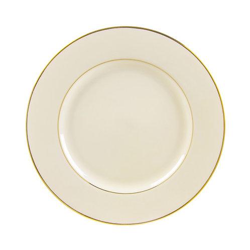 "Ivory Gold Trim Dinner 10 3/4"""