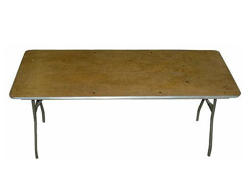 """6' x 30"""" Rectangular - Plywood Top  (Seats 8)"""