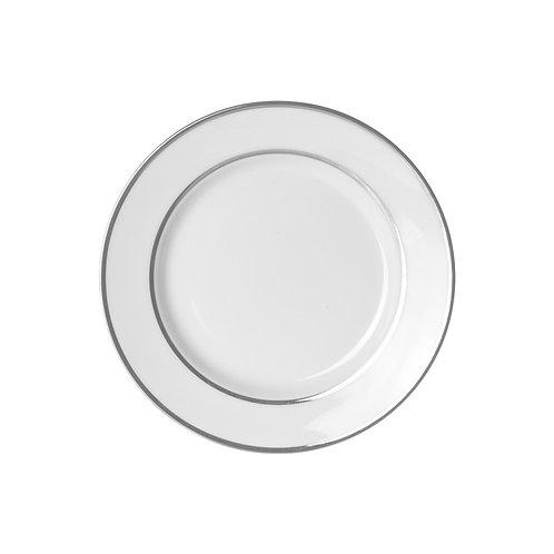 """Silver Trim White Salad / Dessert 7 3/4"""""""