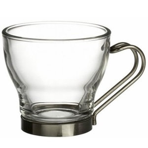 Glass Espresso Cup w/ Wire Handle 3.5 oz.  (36)