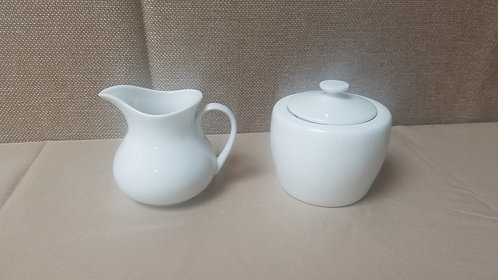 White China Sugar / Creamer Set