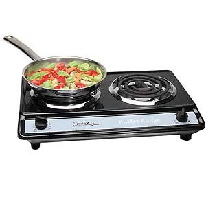 Electric Double Burner Table Top Stove