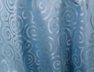 Metallic Scroll - Blue / Silver
