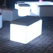 Acrylic Lighted Rectangular Seat