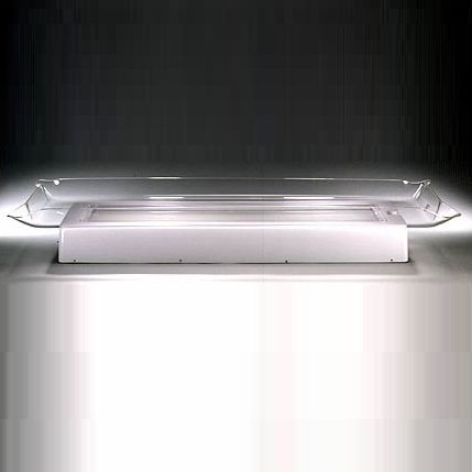 "GLOW TRAY CLEAR JUMBO  WITH SIDE DRAIN (67.375"" X 30"")(Q2"