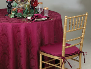 "Damask Wellington 96"" Round"