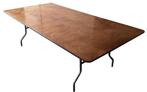 """8' x 48"""" Rectangular - Plywood Top"""