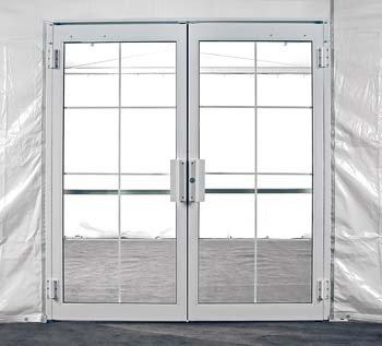 White Tent Door