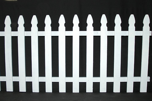 """White Picket Fence 8' Long x 36"""" High"""