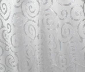 Metallic Scroll - White / Silver