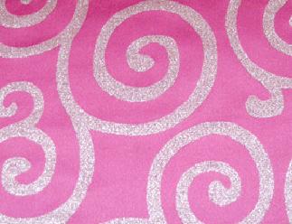 Metallic Scroll - Pink / Silver
