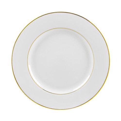 "Gold Trim Dinner 10 3/4"""