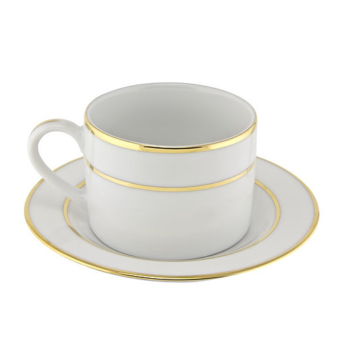 Gold Trim White Saucer