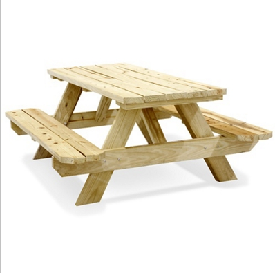 6' Wooden Picnic Table