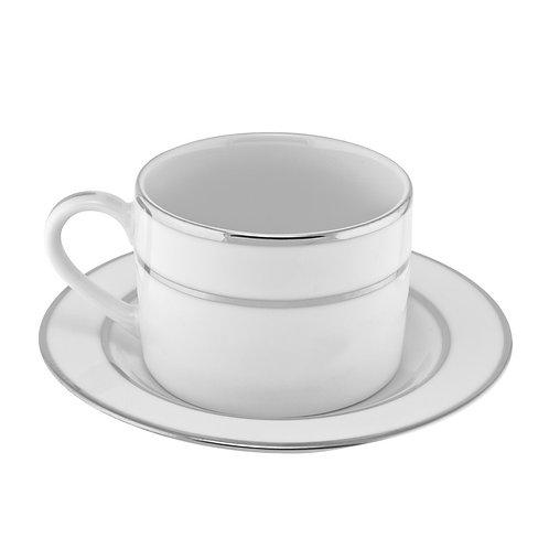Silver Trim White Cup