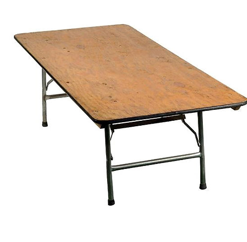 "6'x30"" Rectangular Children's Table - Plywood Top"