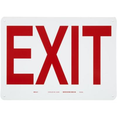 Plastic Exit Sign