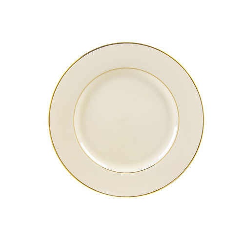 Ivory Gold Trim Salad / Dessert 7 3/4""