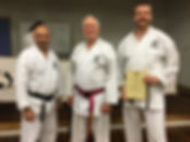 Michael Presented with Shodan-Ho Cert by