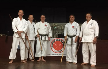 Weapons Training at Wamberal Dojo.png