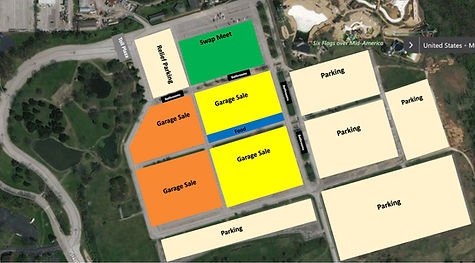 Eureka Swap Garage Sale Site Layout