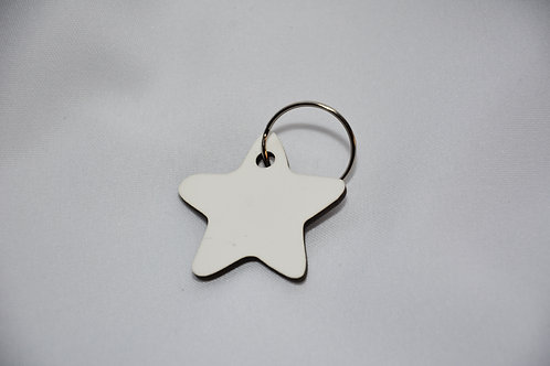 houten sleutelhanger in stervorm