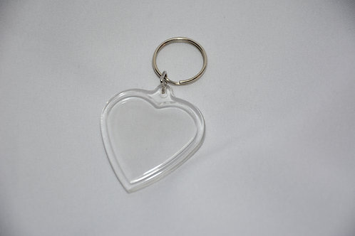 plexi sleutelhanger in hartvorm