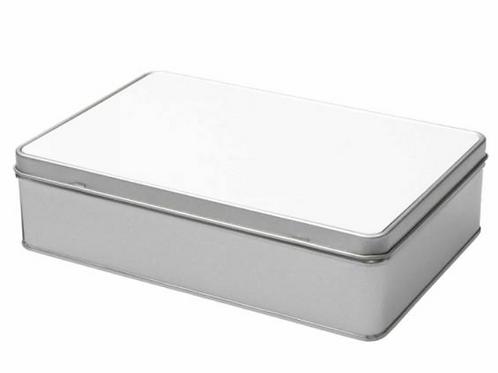 metalen doos rechthoekig bedrukt